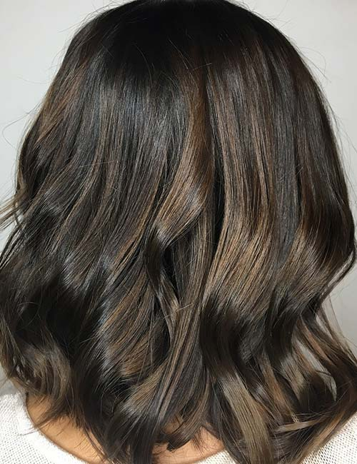 30 best highlight ideas for dark brown hair cool toned brown highlights pmusecretfo Choice Image