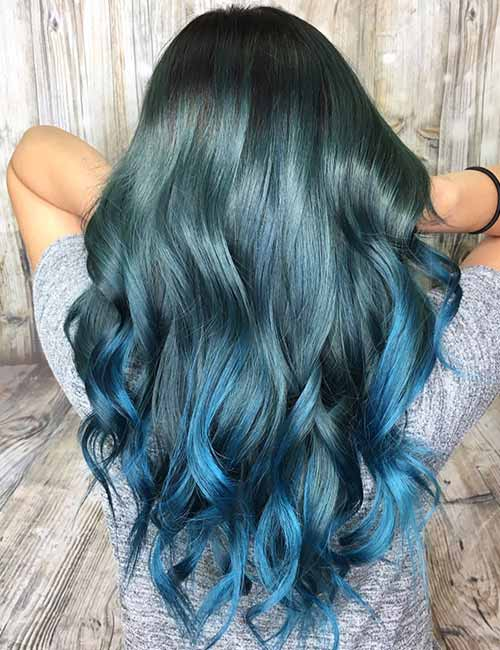 20 beautiful styling ideas for blue ombre hair 3 denim blues solutioingenieria Gallery