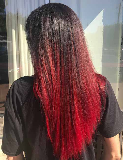 20 Radical Styling Ideas For Your Red Ombre Hair
