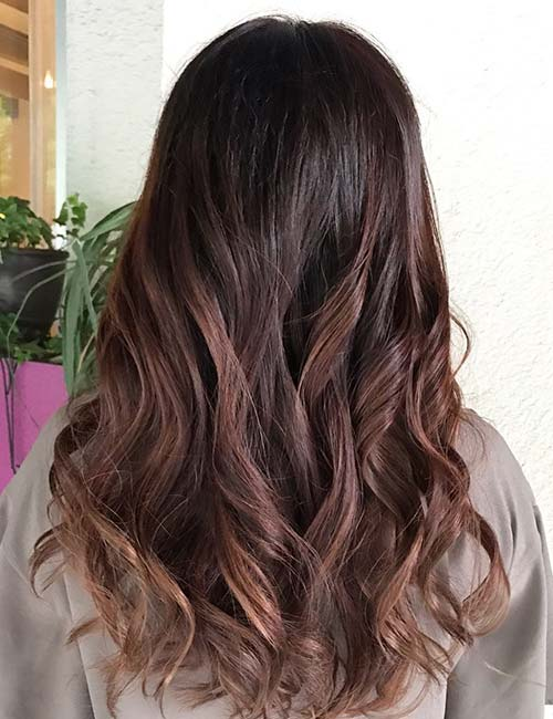 30 best highlight ideas for dark brown hair rose brown highlights pmusecretfo Choice Image