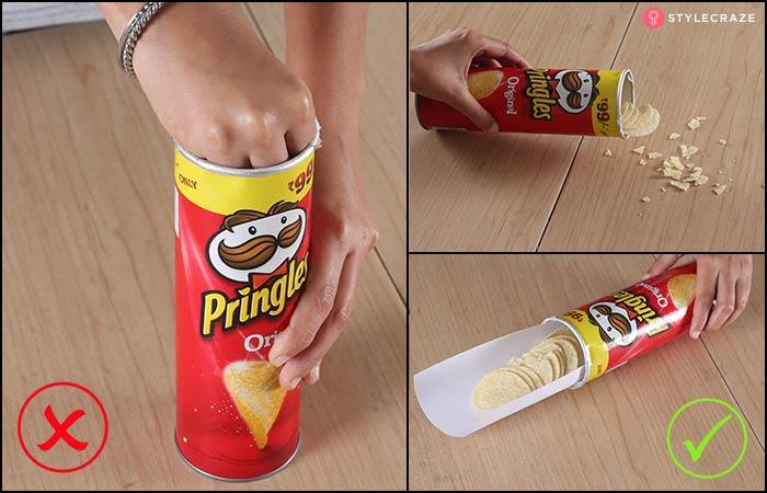 3.Eating Pringles