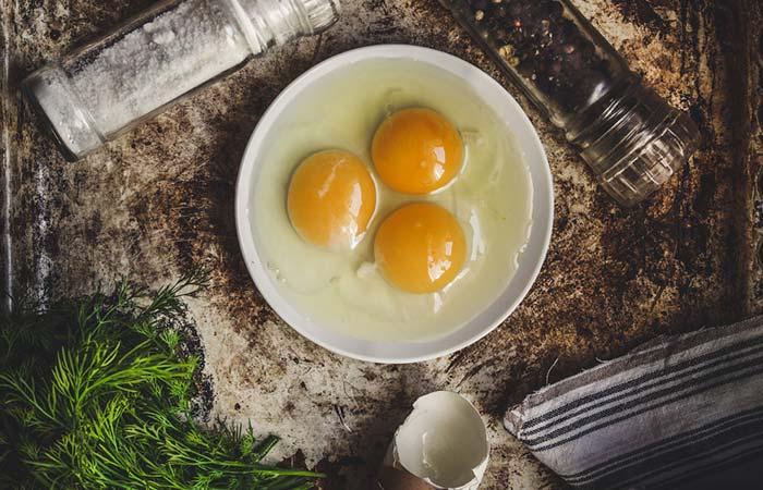 3. Egg Yolk And Cucumber