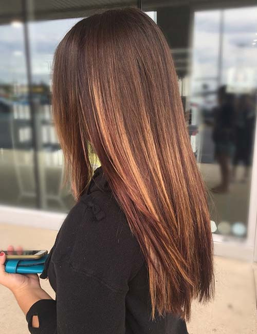 Love The Color Dark Brown Hair With Caramel Highlights Home