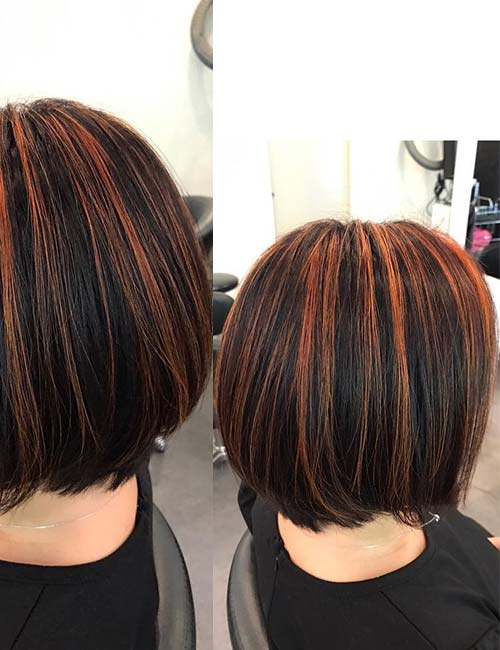 30 best highlight ideas for dark brown hair burnt orange highlights pmusecretfo Gallery