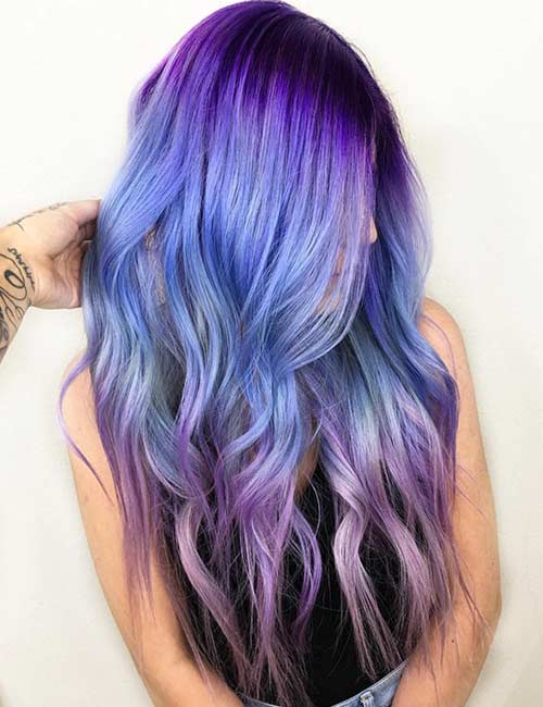 20 Breathtaking Purple Ombre Hair Color Ideas