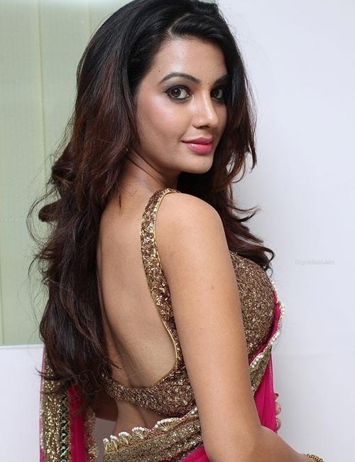 4. Sequin Backless Blouse