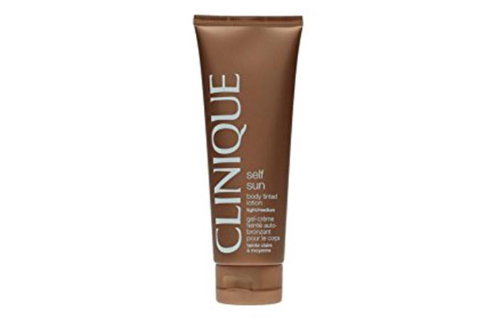 5. Clinique Self Sun Body Tinted Lotion