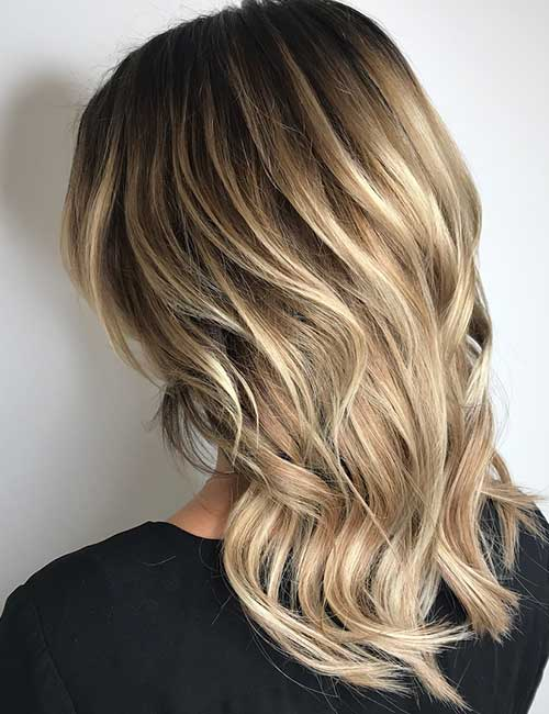 5. Dirty Blonde Balayage On Black Hair