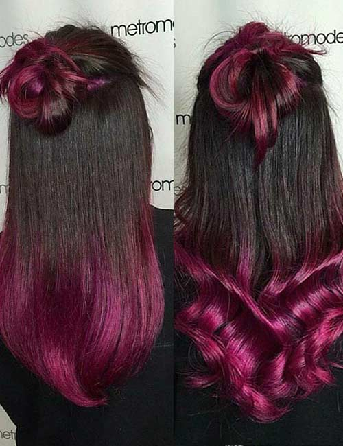 Black And Pink Hair Color Ideas Www Pixshark Com
