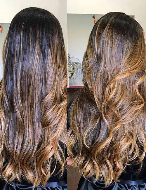 6. All Over Balayage Tiger Eye