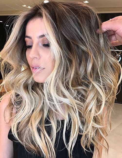 6. Balayage With Dimension
