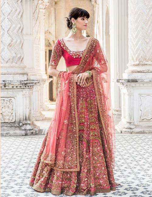 e24593cb4d02f Half Sleeves Lehenga Blouse With Zardosi Work