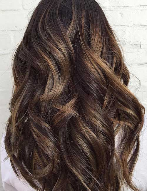 Balayage For Black Hair - Hazelnut Mocha Balayage On Black Hair
