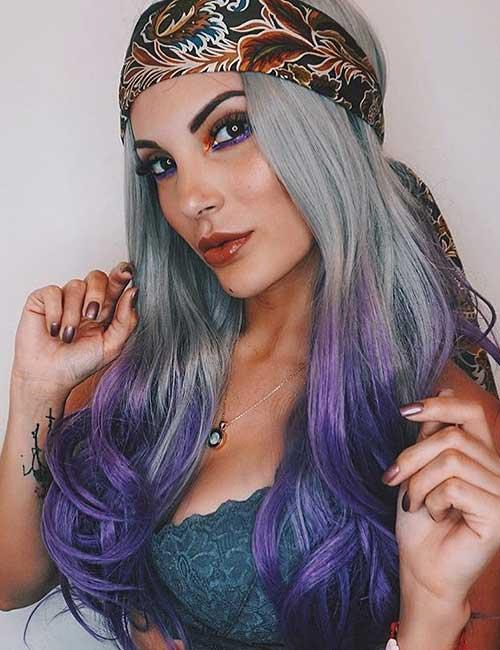 6. Silver Fox Lavender Ombre