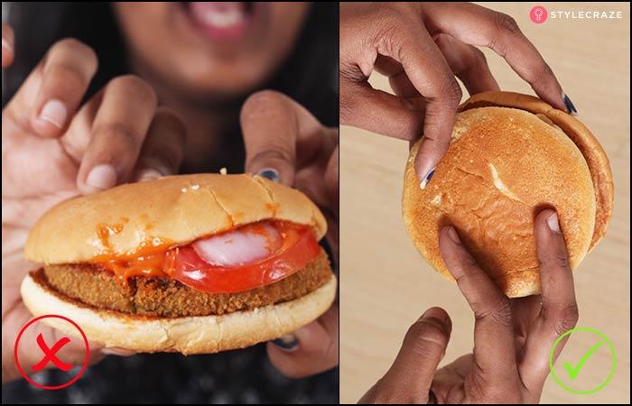 6.Eating A Burger