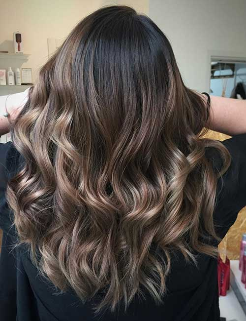 30 best highlight ideas for dark brown hair ash brown highlights pmusecretfo Gallery