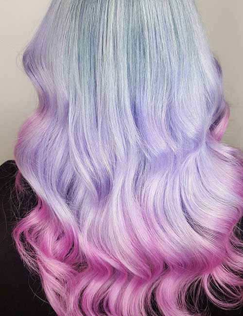7. Candy Floss Lavender Ombre