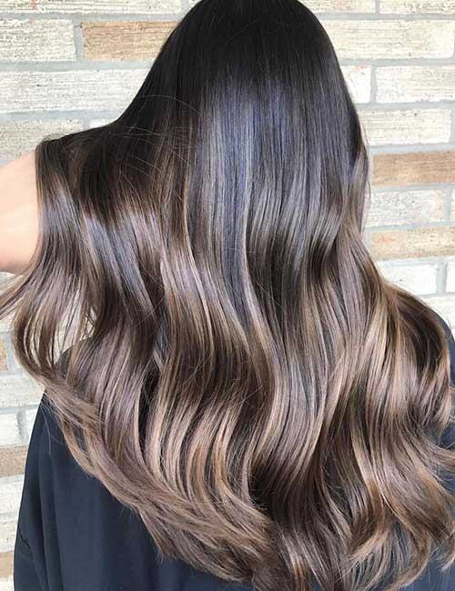 Balayage For Black Hair - Dark Roast Balayage