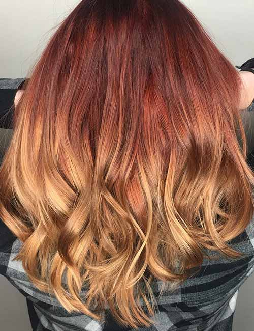 7. Reverse Ginger Ombre