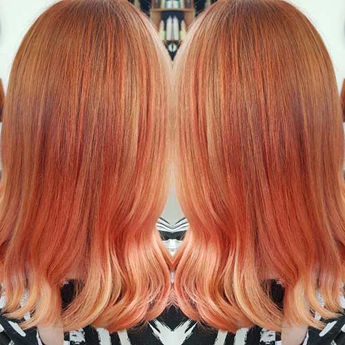8. Light Copper With Rose Gold Tips