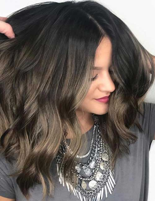 9. Cool-Toned Brown Balayage
