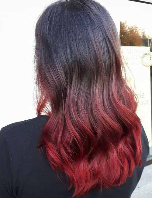 20 radical styling ideas for your red ombre hair 9 vivacious carmine solutioingenieria Choice Image