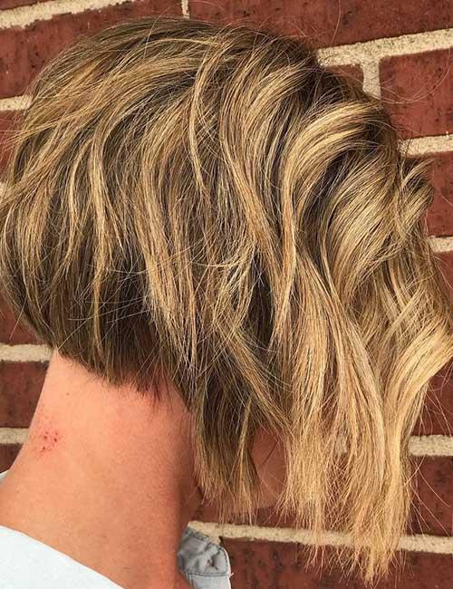 Short Blonde Balayage With Waves