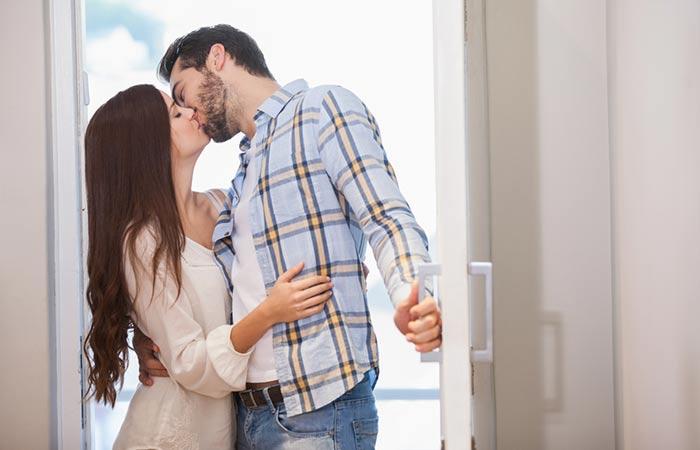 "First Scenario The ""Hello Darling, I'm Home!"" Kiss"
