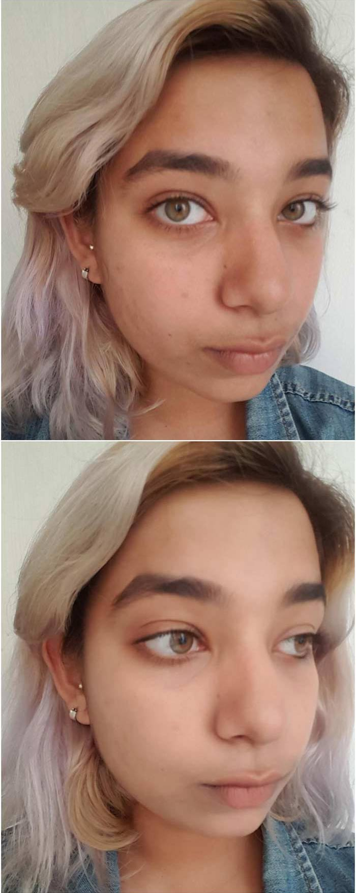 Before And After Applying Maybelline Clear Glow BB Cream