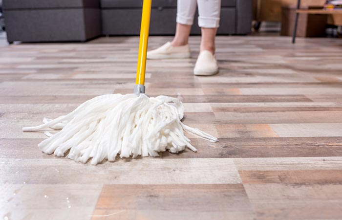 Opting To Clean The Floor First