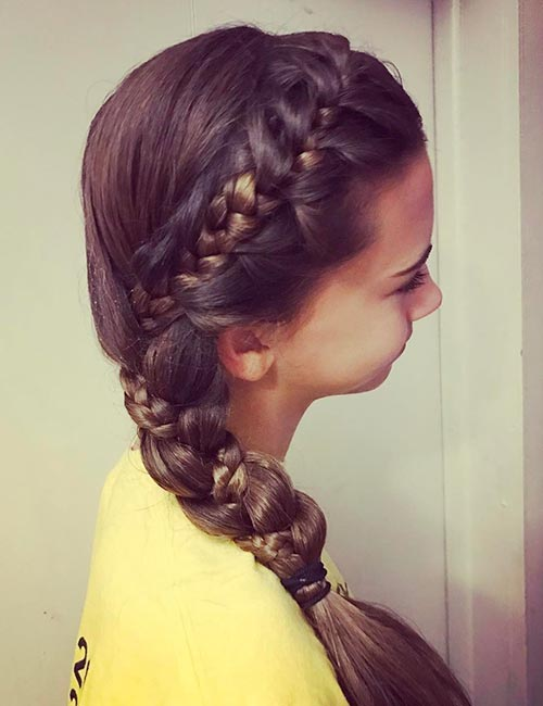1. Combo Side French Braid
