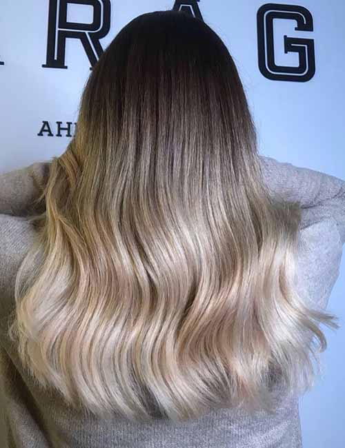 1. Dark Brown To Blonde Ombre
