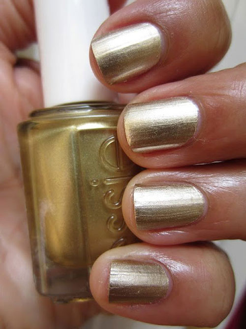 "1. Essie Mirror Metallics In ""Good as Gold"" - Best Drugstore Nail Polish"