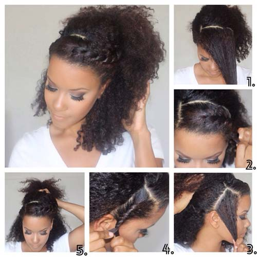 1. French Twist Ponytail