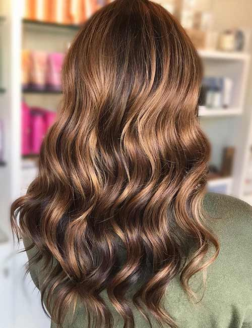 20 Beautiful Brunette Hair Colors 1 Glossy Chocolate Balayage
