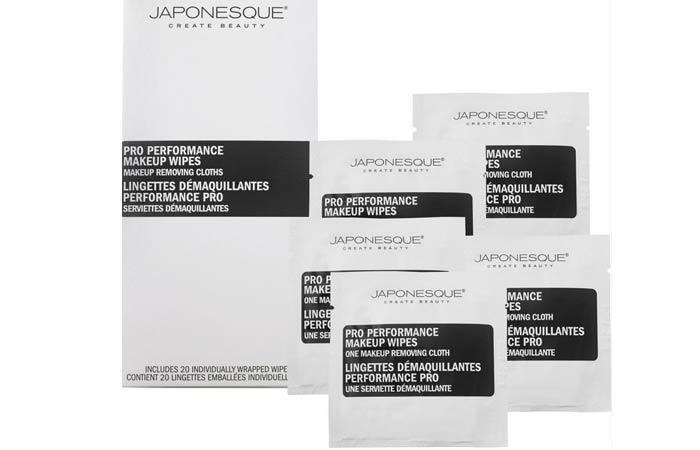 10. Japonesque Pro Performance Makeup Wipes
