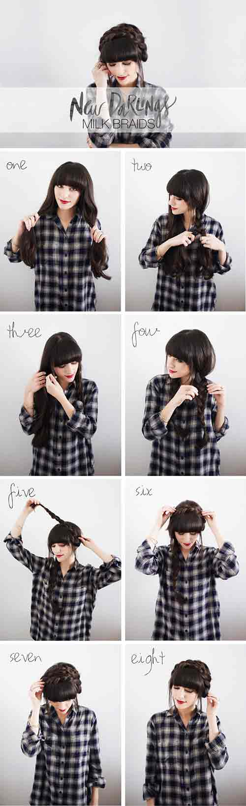 10. Milkmaid Braids