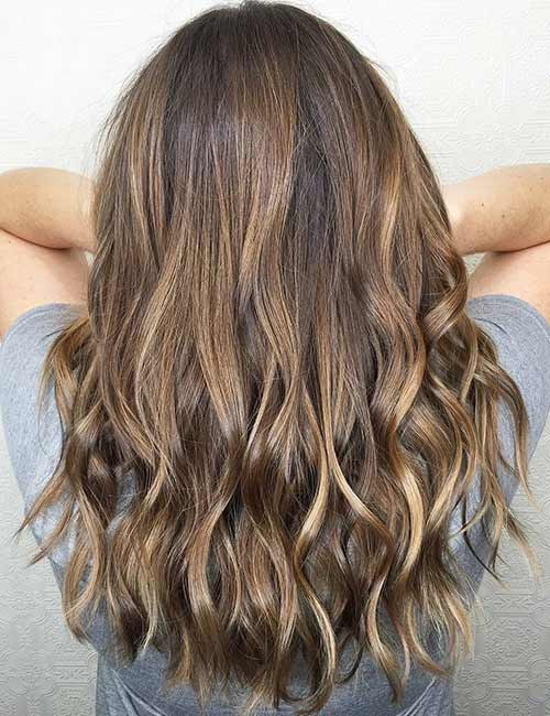 10. Sun-Kissed Fall Hair