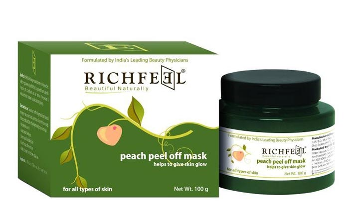 10.Richfeel Peach Peel Off Mask
