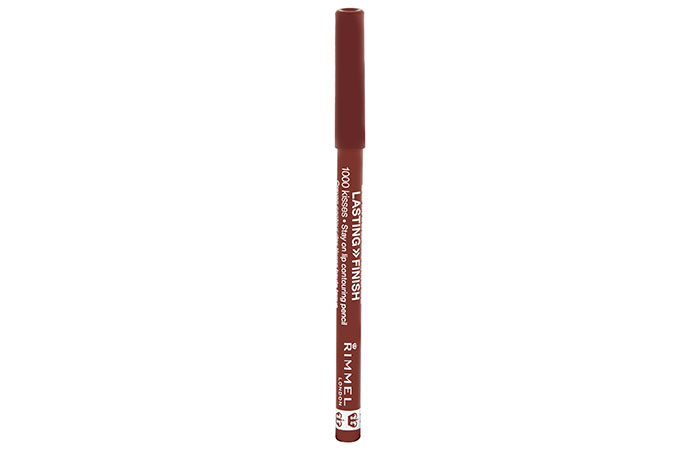 3. Rimmel London Lasting Finish 1000 Kisses Stay On Lip Liner - Best Drugstore Lip Liner
