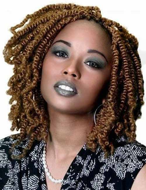 11. Golden Brown Kinky Twists
