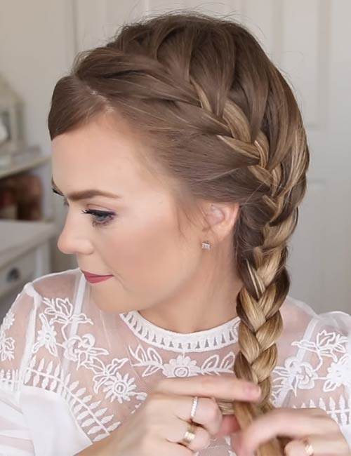 11. Simply braid the rest of the way down