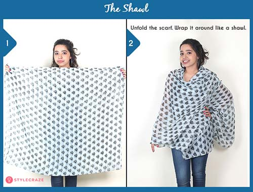 How to wear a blanket scarf - The Shawl