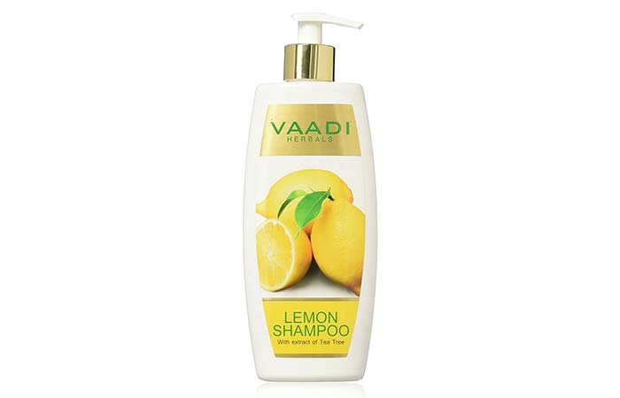 11. Vaadi Herbals Lemon Shampoo With Extract Of Tea Tree