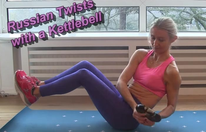 Fat Burning HIIT Workouts - Russian Twist
