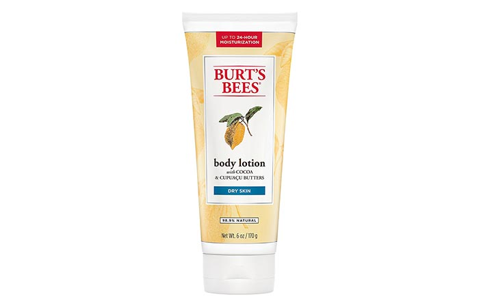 13. Burt's Bees Cocoa Butter Body Lotion