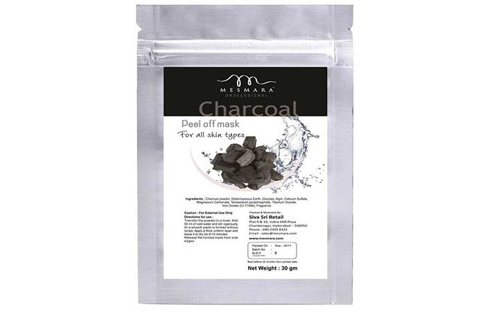 13. Mesmara Professional Charcoal Peel-Off Mask Powder