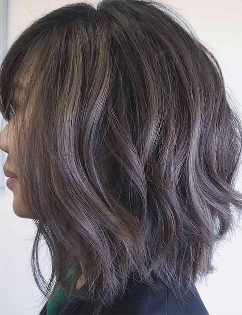 13. Smokey Layered Long Bob