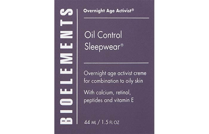 14. Bioelements Oil Control Sleepwear
