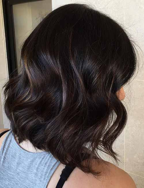 14. Dented Curls Layered Bob